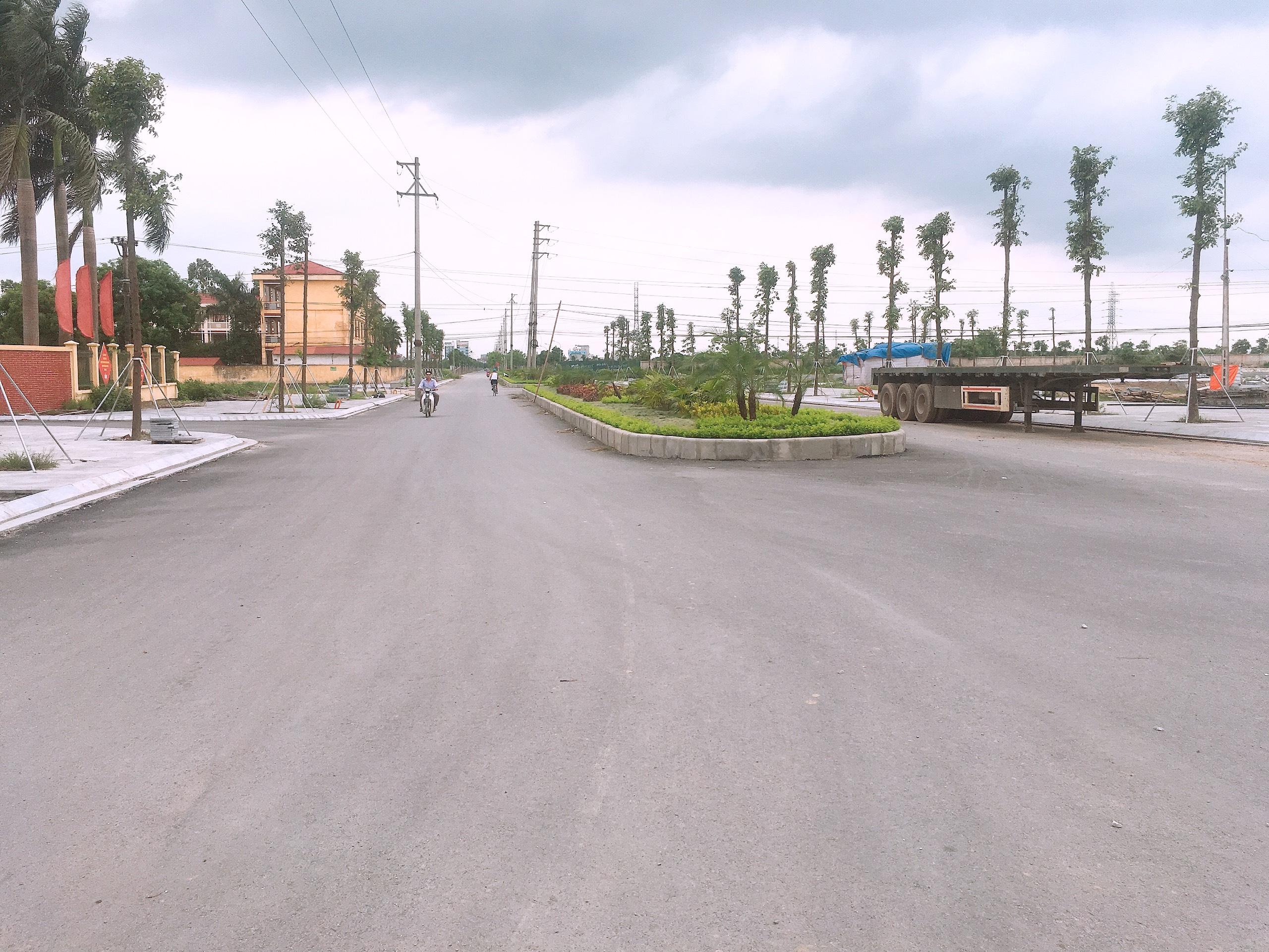 Một trong các tuyến đường đã được hoàn thiện và đi vào hoạt động