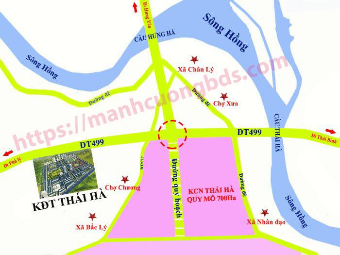 vị trí dự án đô thị thái hà