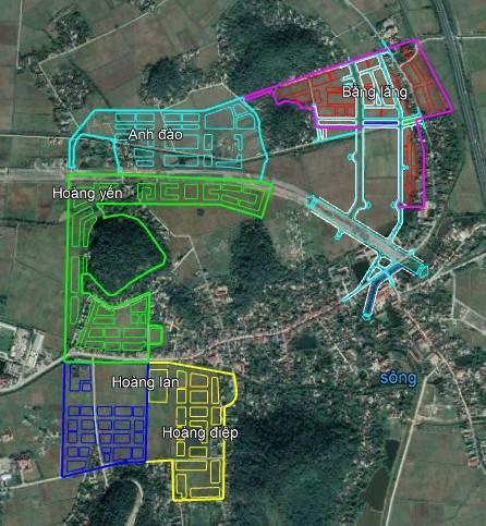vị trí khu đô thị Anh Đào