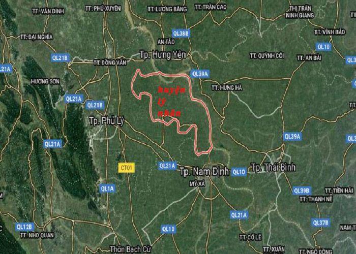 vị trí huyện lý nhân