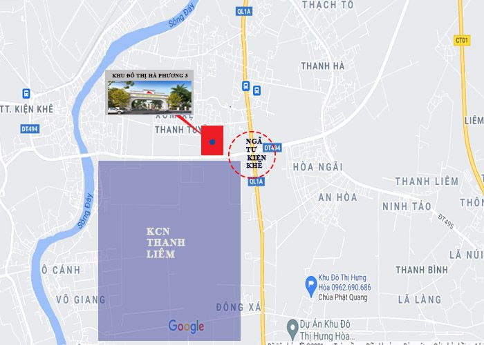 Vị trí khu đô thị hà phương 3