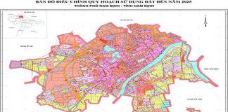 bản đồ quy hoạch thành phố nam định